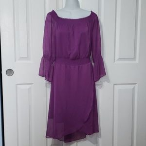 H by halston womens plum dress 130$ size Medium